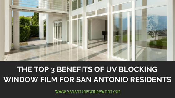 UV blocking window film san antonio